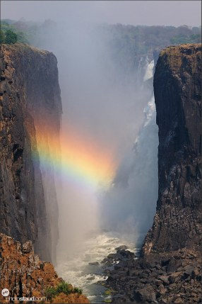 Rainbow at Victoria Falls, Zambia