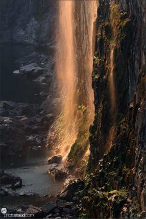 Victoria Falls at sunset, Zambia