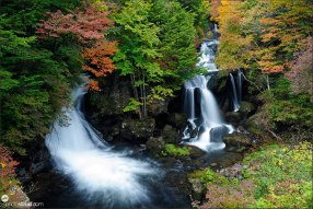 Ryuzu waterfalls in autumn, Nikko National Park, Japan